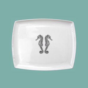 Seahorse Small Breakfast Platter Double